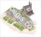 3D drawing of the Museum of the Prado in Madrid - EOSGIS Cartografia Magazine