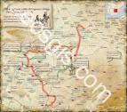 First and second journeys of Don Quixote de La Mancha - EOSGIS Cartografia Magazine